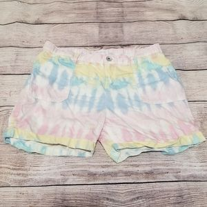 Children's Place pastel tie dye shorts size 16